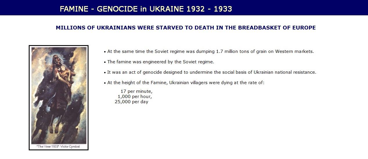 Famine-Genocide in Ukraine 1933