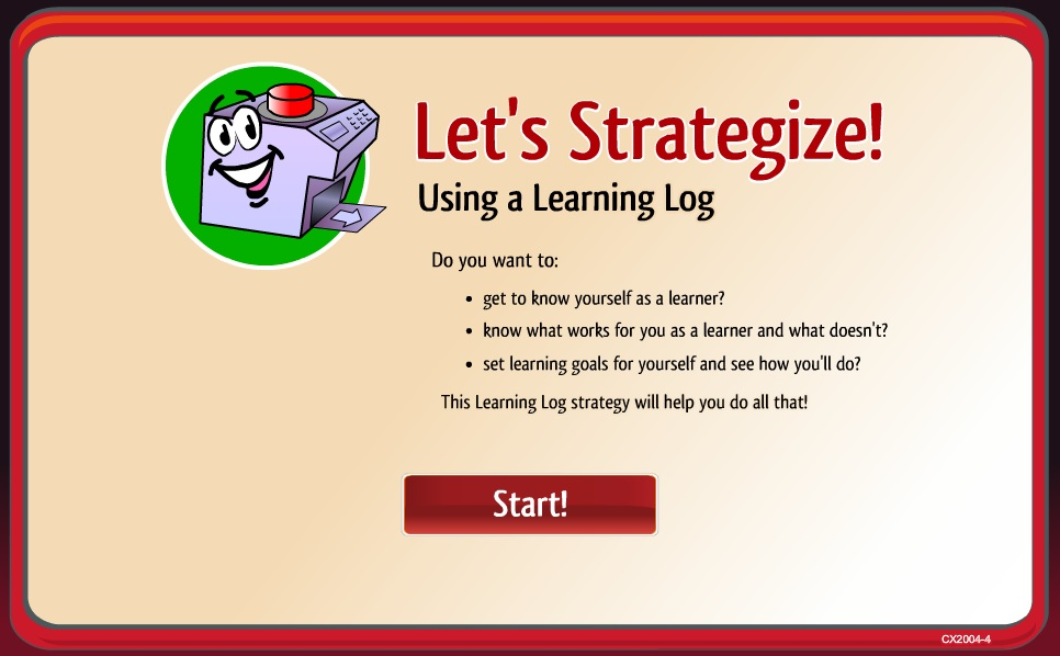 Learning Strategies Object 4 Using a Learning Log